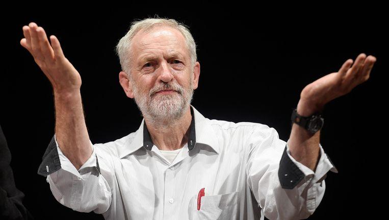 Jeremy Corbyn maakt momenteel de meeste kans om de nieuwe leider van de Labour Party te worden. Beeld null