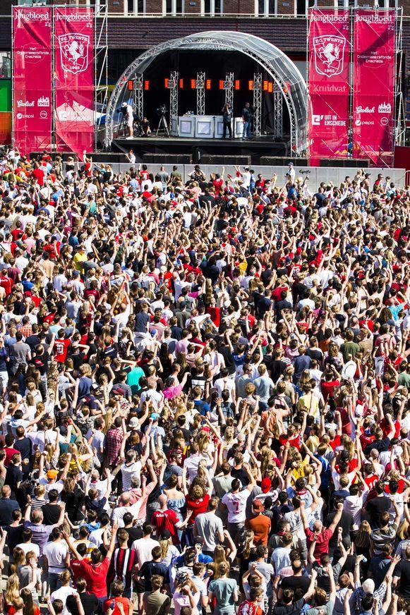 Viering van de Twente-fans.