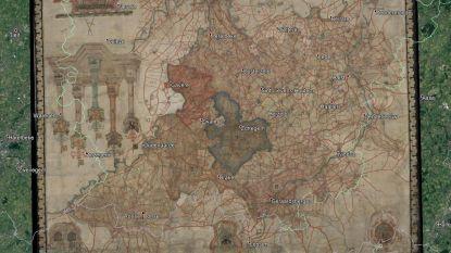Kaart van het Land van Aalst uit 1626 is gerestaureerd