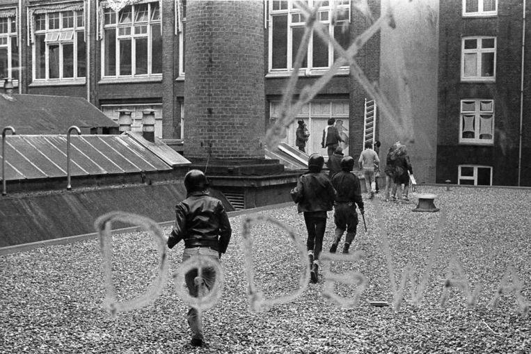 De voormalige lettergieterij en fabriek voor drukkerijmachines Tetterode werd op 17 oktober 1981 gekraakt.  Beeld Martijn de Jonge
