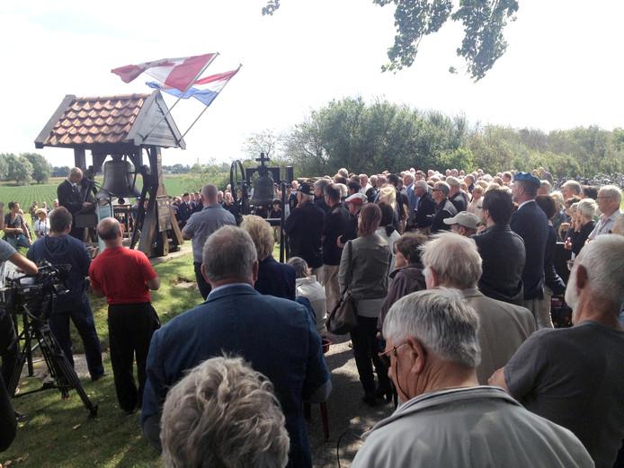 De ceremonie voor de overdracht van de klok vond zaterdag plaats.