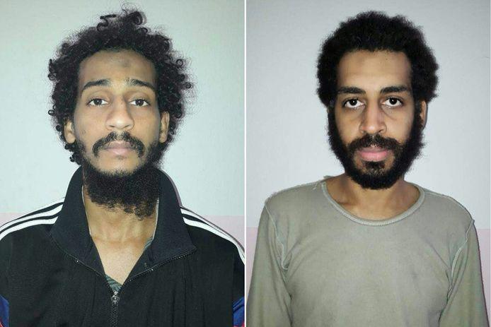 De twee verdachten die vandaag voor de rechter verschijnen: links: El Shafee el-Sheikh en rechts: Alexanda Kotey