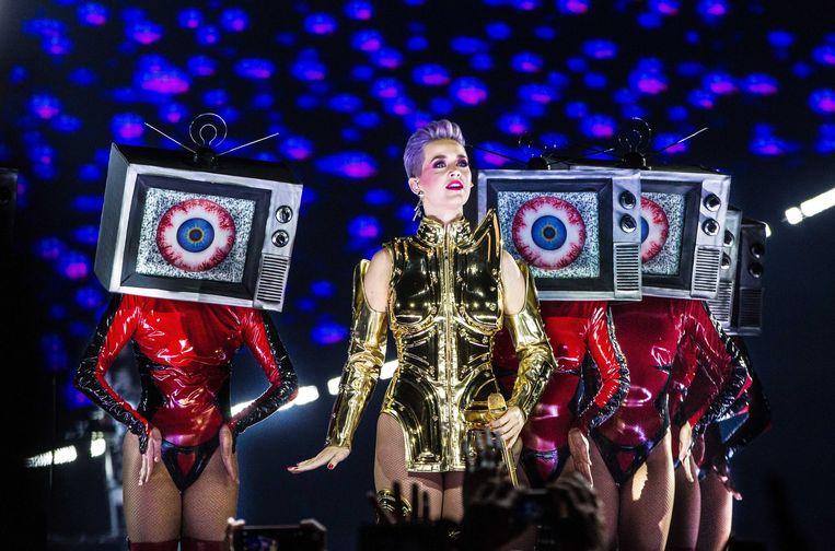 Katy Perry gisteravond in de Ziggo Dome  Beeld EPA