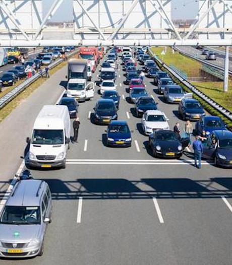 Weer verkeerschaos in en rond Amsterdam