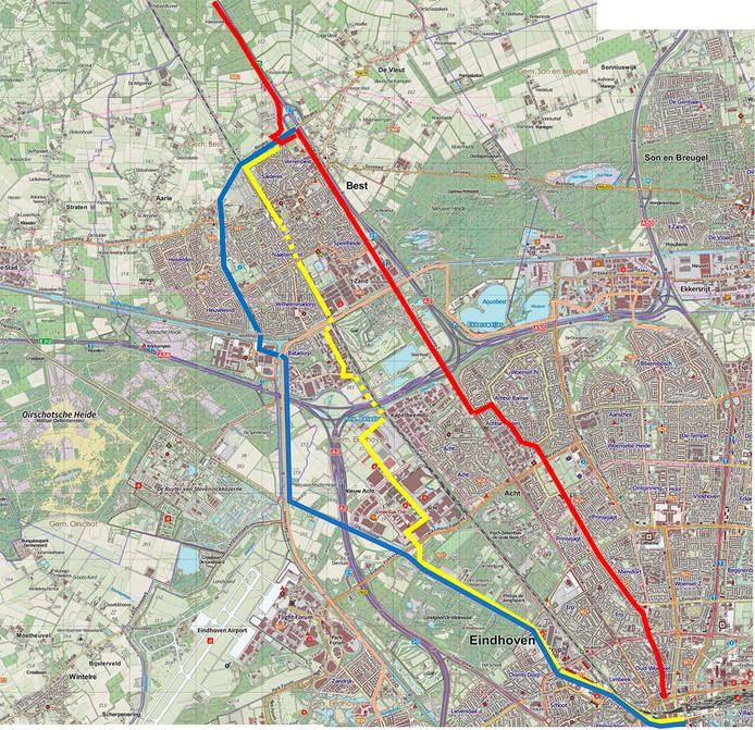 De verschillende varianten, in de omgeving van Eindhoven en Best.
