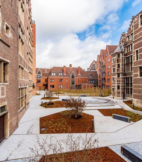 Welkom op het Leonie Glassplein: stadscentrum heeft er nieuwe publieke ruimte bij
