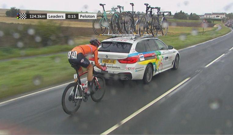 Winnaar Nils Eekhoff gediskwalificeerd voor stayeren.