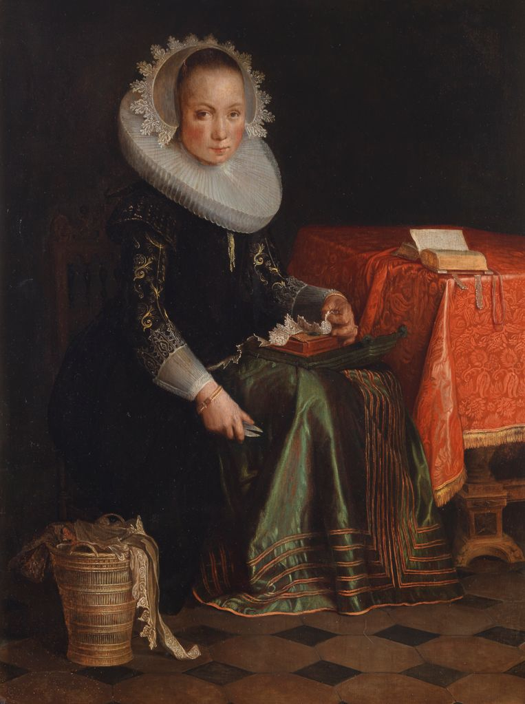 Joachim Wtewael, Portret van Eva Wtewael (1628). Beeld CMU / Adriaan van Dam
