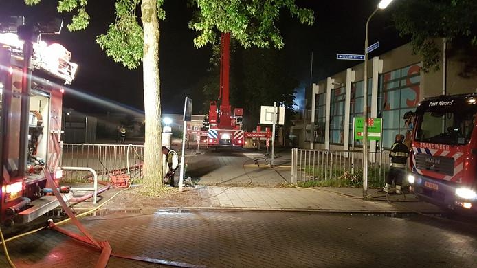 Brand in de Martinus van Beekschool in Nijmegen.