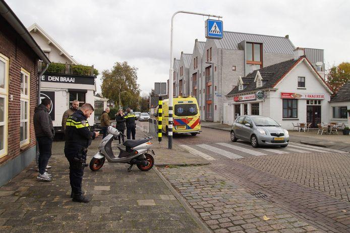 Snorscooterrijder gewond bij ongeval in Vlijmen.