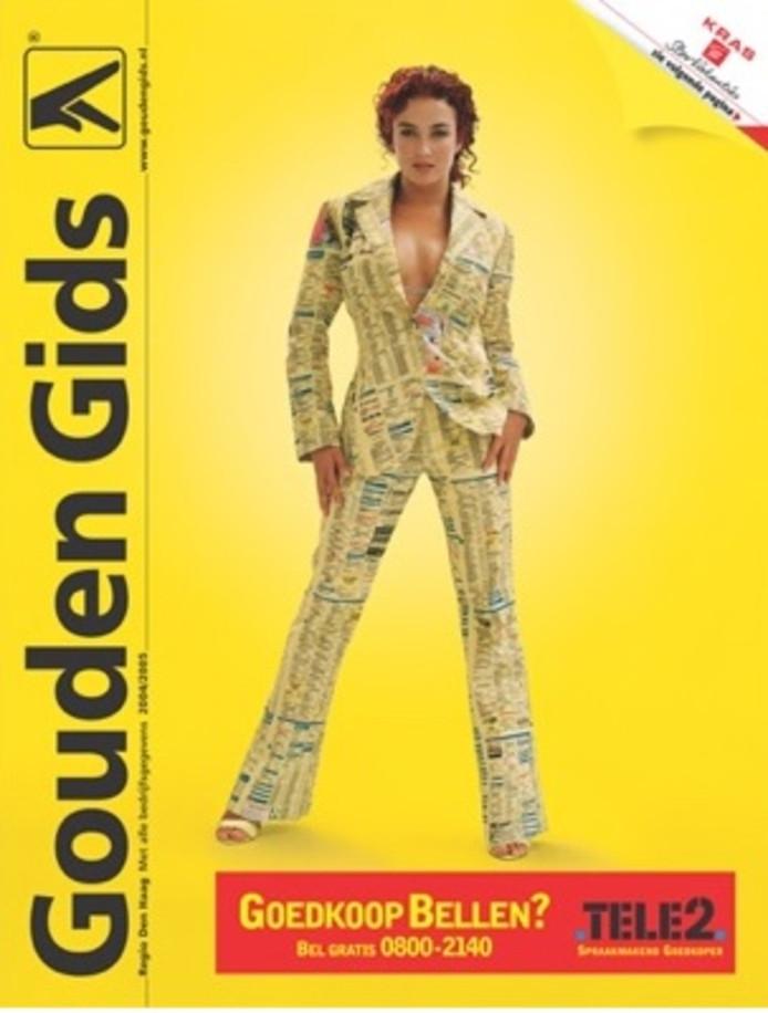 De beroemde editie van de Gouden Gids met Katja Schuurman op de cover.