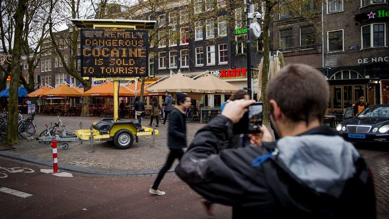 Toeristen worden in de stad gewaarschuwd voor levensgevaarlijke nepdrugs. Beeld anp