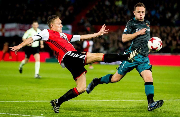 Jens Toornstra maakte drie goals en was ook nog betrokken bij andere doelpunten. Beeld anp