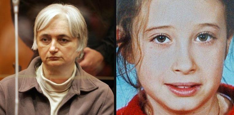 Links: Monique Olivier op een foto van elf jaar geleden. Rechts: Estelle Mouzin.