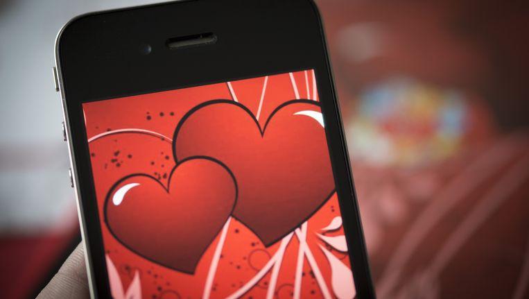 Foto van een onbekende valentijnsapp. Happn ziet er anders uit. Beeld anp