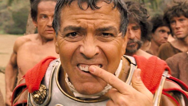 George Clooney als acteur Baird Whitlock, die een centurion speelt. Beeld
