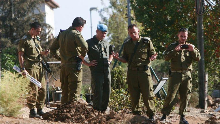 Israëlische soldaten in de bezette Golanhoogte Beeld ANP