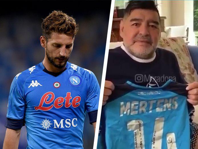 Dries Mertens et Diego Maradona.