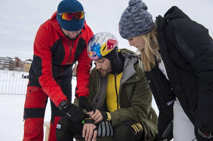 Erben Wennemars, Kjeld Nuis en de Zweedse rallyrijdster Mikaela Ahlin-Kottulinsky.