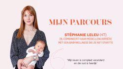 """Het hobbelige pad naar succes van Stéphanie Leleu die haar modellencarrière met een babywellness combineert: """"Mijn leven is compleet veranderd"""""""