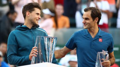 19 ATP-toernooien, 19 verschillende winnaars Thiem verrast Federer in Indian Wells