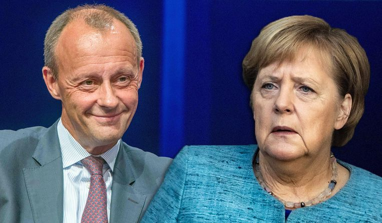 Friedrich Merz stelt zich kandidaat als opvolger van Angela Merkel.