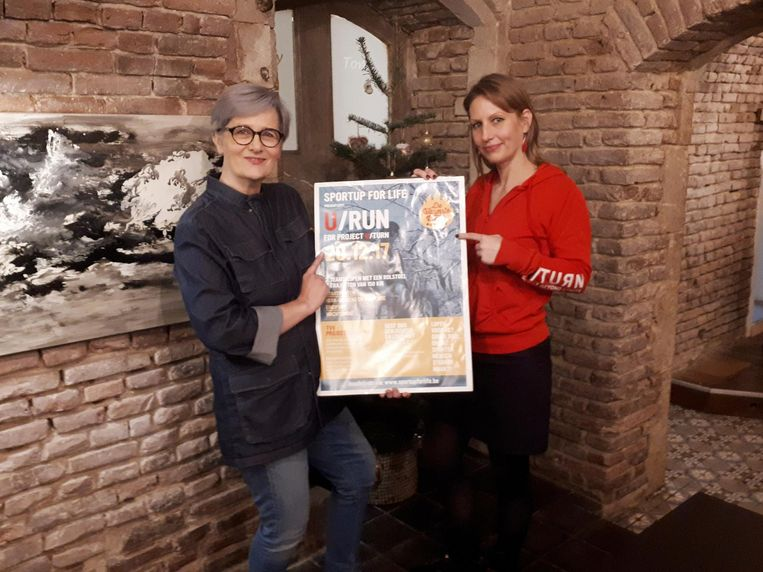 Michèle Huber en Allessia Claes stellen de U/Run voor.