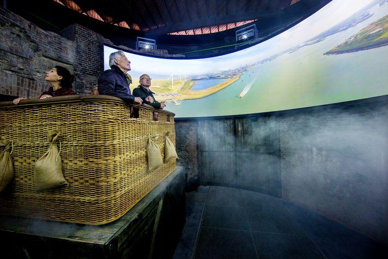 Werelderfgoed Pampus opent nieuwe attractie: de stelling van Amsterdam in virtuele ballonvaart. Beeld Jean-Pierre Jans