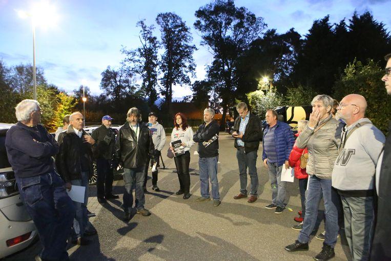Er was donderdagavond opnieuw een protestactie tegen de komst van het asielcentrum.