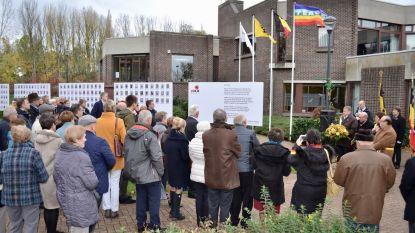 Herdenkingswand met soldaten Groote Oorlog uitgebreid met 50 extra foto's