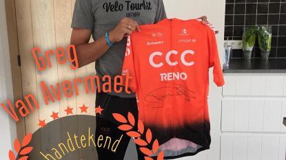 Jongerenafdeling Open VLD geeft zondag gesigneerd truitje van Greg van Avermaet weg aan gelukkige winnaar