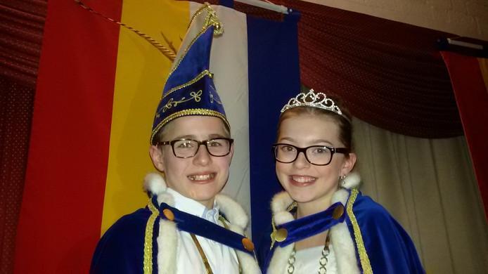 Jeugdprins Kris en Prinses Laura van Bokkendonk