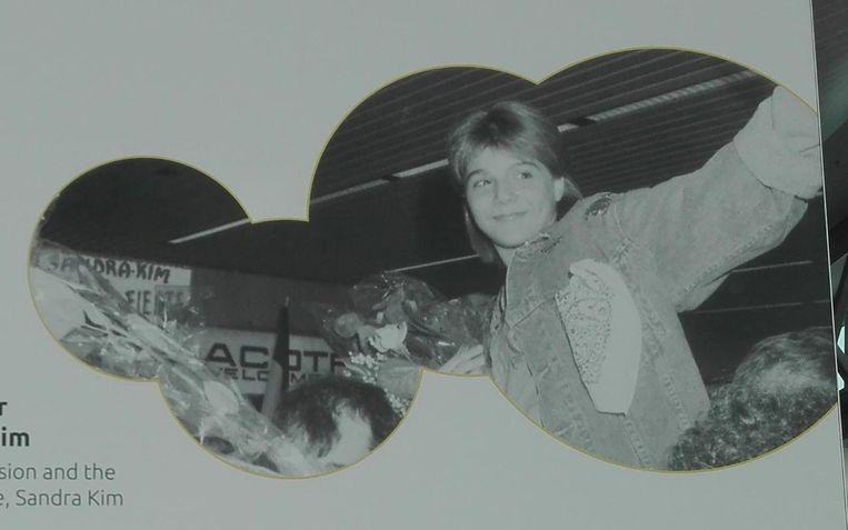 1986 | Sandra Kim krijgt een warm welkom op Brussels Airport nadat ze het Eurovisiesongfestival won met J'aime la vie.