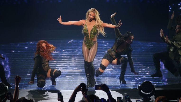 Britney Spears tijdens haar optreden op het Apple Music Festival in 2016. Beeld ap
