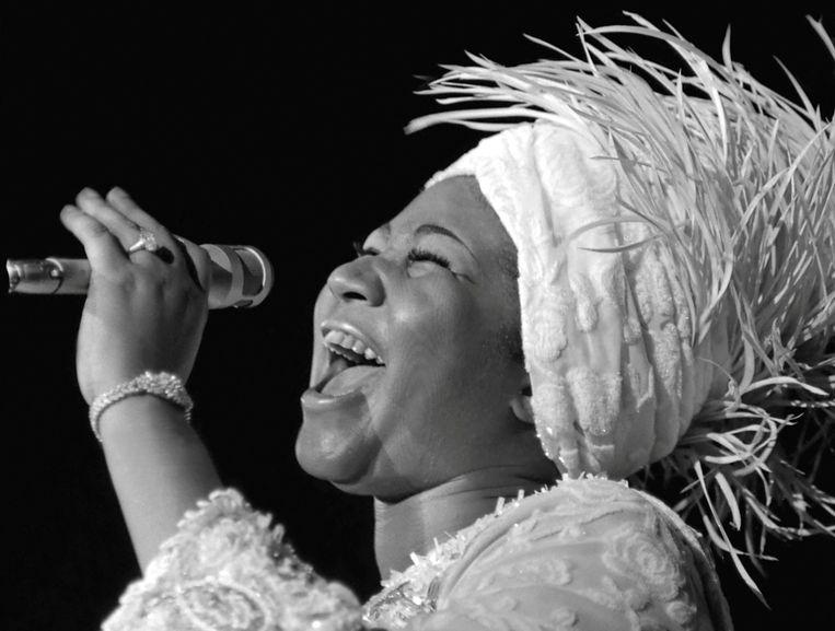 Aretha Franklin tijdens een concert in Las Vegas, in juni 1969. Beeld Reuters