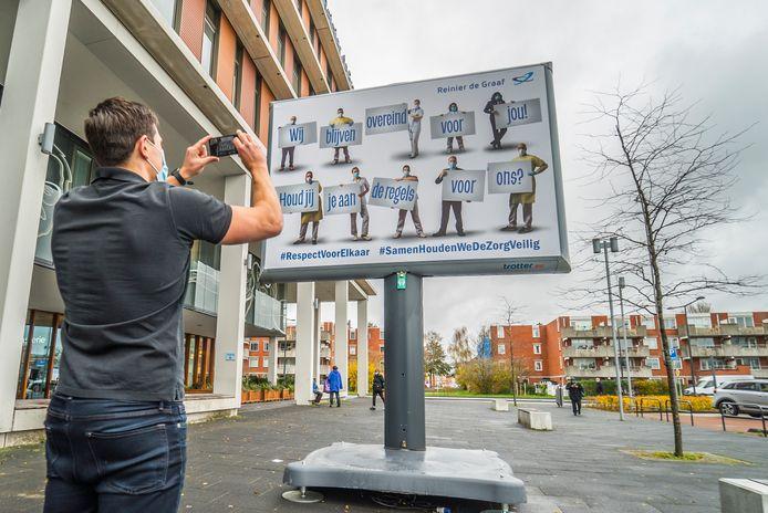 Reinier de Graaf ziekenhuis heeft nieuw billboard - Ontwerper Frank (de fotograaf) van der Burg