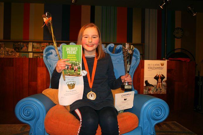 Tessa Boswerger kan bijna niet geloven dat zij als Hengelose winnaar uit de bus komt.