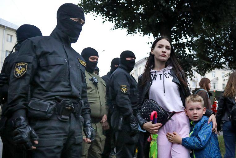 Een demonstratie in Wit-Rusland, waar Psyphon de communicatie tussen betogers mogelijk bleef maken. Beeld AP