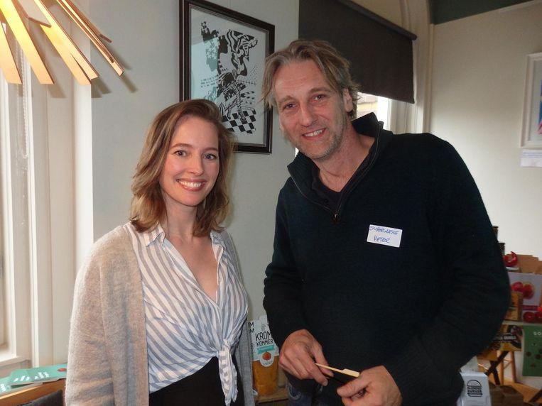 Marleen Visser (sharelovenotsecrets) en Peter Zevenhuizen (Superwaste). Beeld Schuim