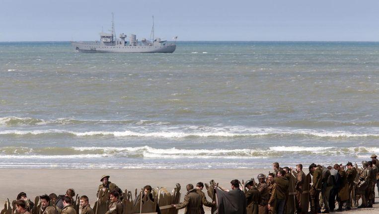 Beeld uit de oorglogsfilm Dunkirke Beeld Thibault Vandermersch