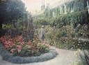 Monet op hoge leeftijd in zijn geliefde tuin.