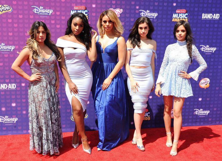 Ally Brooke, Normani Kordei, Dinah Jane, Camila Cabello en Lauren Jauregui van Fifth Harmony.