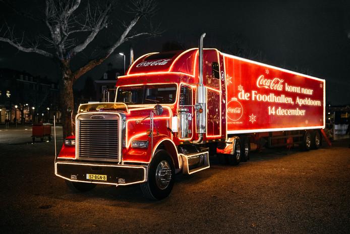 De kersttruck van Coca-Cola.