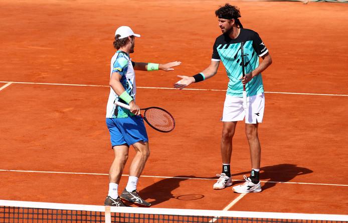 Robin Haase en Wesley Koolhof plaatsen zich voor de finale in het dubbelspel op het gravel van Monte Carlo.