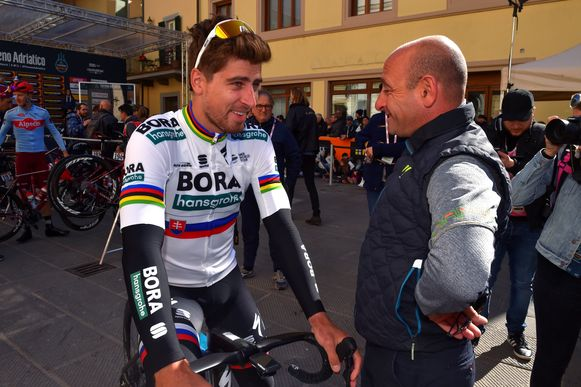 Peter Sagan met Paolo Bettini.