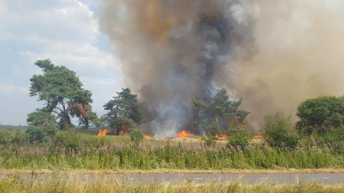 Brand op de Hoge Veluwe.