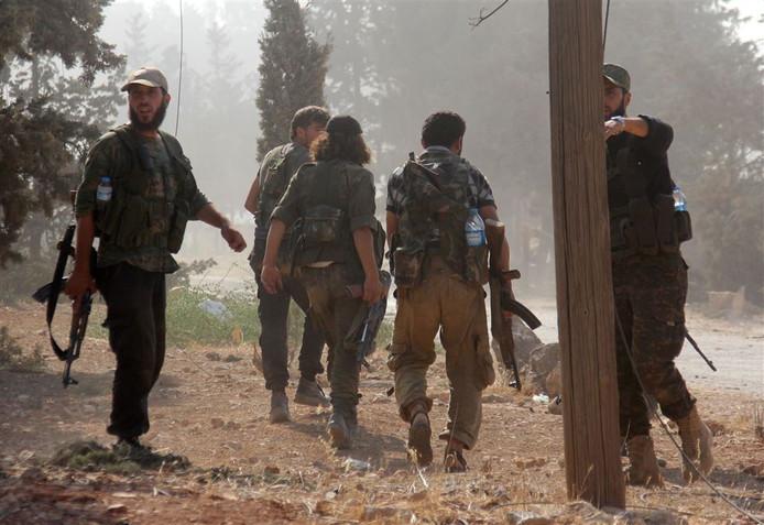 Strijders van Jabhat al Nusra in 2016.