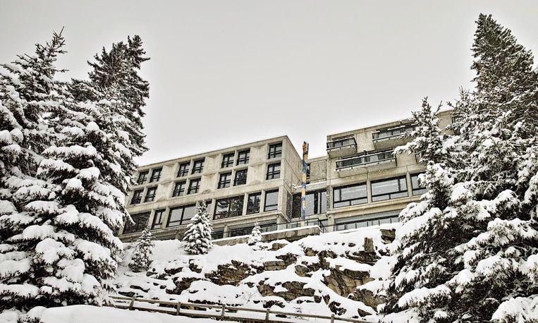Aanzicht hotel Totem in skidorp Flaine. Beeld L. di Orio