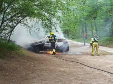 Auto brandt compleet uit in de bossen bij Nijmegen