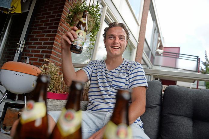Sander Hoek wil nu zelf beginnen met wielrennen.